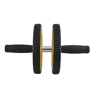 Double running wheel with mat