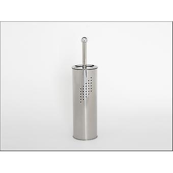 Home Label Pillar Toilet Brush Set Stainless Steel 95065