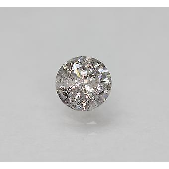 Cert 0.57 Carat Fancy Silver SI3 Round Brilliant Natural Loose Diamond 5.2mm 3EX