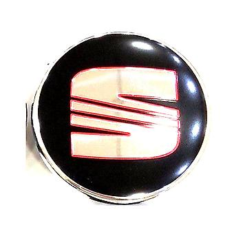 Black/Silver/Red Seat Wheel Center Cap Hub Badge 58mm 1 PCS For Ibiza Leon