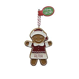 Figura de pan de jengibre ALMA colgante árbol de Navidad