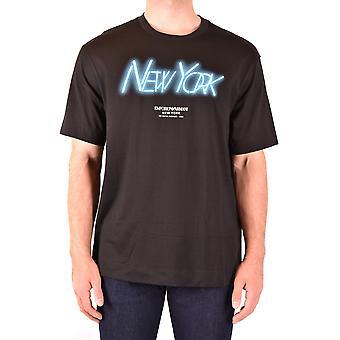 Emporio Armani Ezbc113036 Men's Black Cotton T-shirt