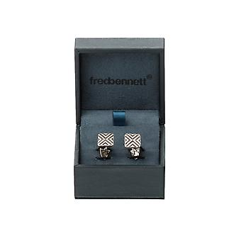 Boutons de manchette PVD Fred Bennett Black and Brown