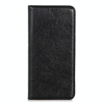 For Samsung Galaxy M51 (Side Fingerprint Version) Magnetic Crazy Horse Texture Horizontal Flip Leather Case with Holder & Card Slots & Wallet(Black)