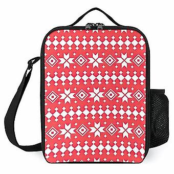 Christmas Ethnic Pattern, Traditional Design Printed Lunch Bags