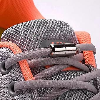 Elastic Locking Shoelaces Semicircle Sneakers Quick No Tie Kids Adult Colors