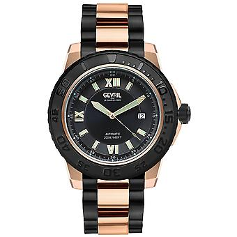 Gevril Men's Seacloud Black Dial Black -Rose Gold PVD