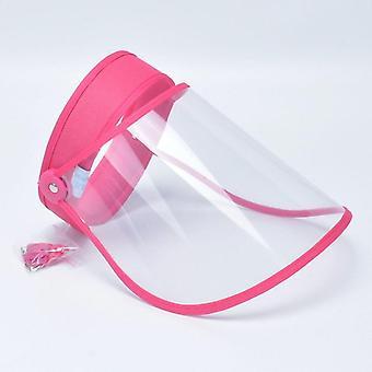 شفاف قابل للتعديل قناع كاب، البلاستيك المضادة للبصق الغبار واقية من حماية الوجه