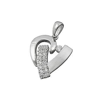 Pendant Heart With Zirconia Silver 925
