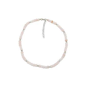 halskjede perler rosa 42cm