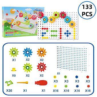 3d Puzzle Building Kit - Sæt Af Diy Plastic Gear Chain Legetøj