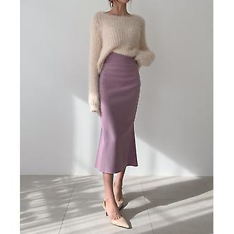 Elegant Office Lady Women Trumpet Mermaid Vintage Skirts