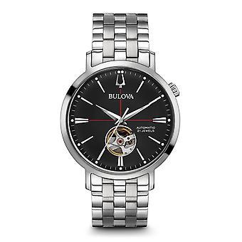 Montre-bracelet mécanique automatique Bulova 96A199 Black Dial