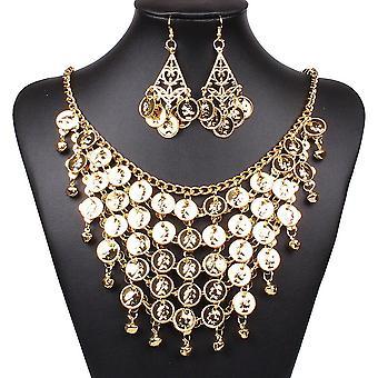 Oulii κοσμήματα χορό της κοιλιάς που χρυσό κολιέ σκουλαρίκια για το κόμμα ευνοεί αξεσουάρ κοστούμι