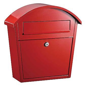 Ridgeline Locking Mailbox In Red Color