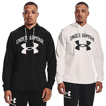 Under Armour Mens 2021 Rival Terry Big Logo Umidade Wicking Quick Drying Hoody