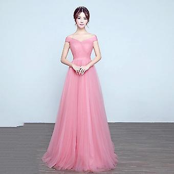 Royal Blue Bridesmaid Dress Tulle Robe