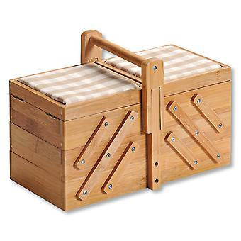 Fsc® bambu puinen ompelulaatikko