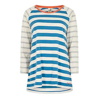 Ana 3/4 Ärm Bomull T-Shirt Magenta