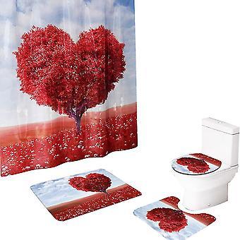 Beautiful Love Mangrove Shower Curtain 4-Pcs Set