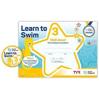 ASA zwemmen Engeland leren zwemmen Award fase 3
