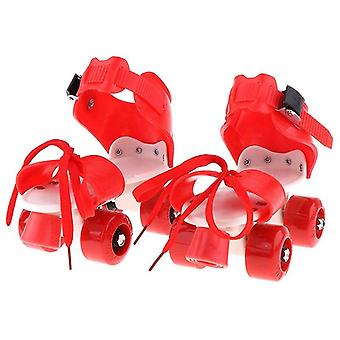 Children Roller Skates Double Row 4 Wheel Skating Shoes Adjustable Sliding