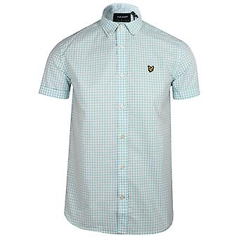 Lyle & scott men's deck blue and white gingham shirt