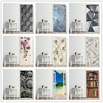 Decorative Wall Papers For The Door ( Set 2)