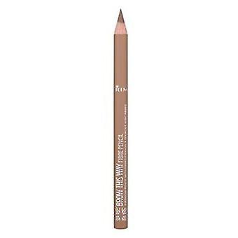 ريميل لندن الحاجب بهذه الطريقة الألياف قلم رصاص 001 الخفيفة