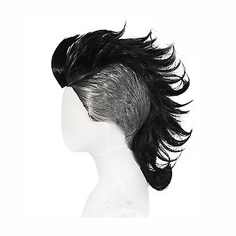 Mohican Hairstyle Wigs Anime Synthetic Hair Wig Black