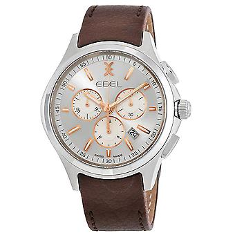 Ebel Wave Chronograph Silver Dial Men's Watch 1216341
