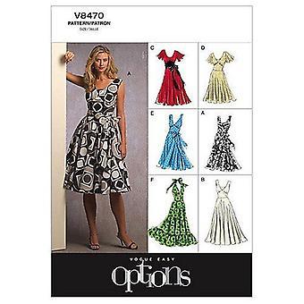 Vogue coser patrón 8470 se pierde el vestido forrado tamaño 18-24 sin cortar