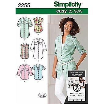 بساطة نمط الخياطة 2255 يفتقد سهلة لخياطة قميص سترة أحجام 6-14 H5