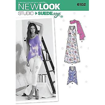 New Look 6102 Size A 4/6/8/10/12/14/16 Misses Tops or Dresses Studio by Suede Says Sewing Pattern, Multi-Colour
