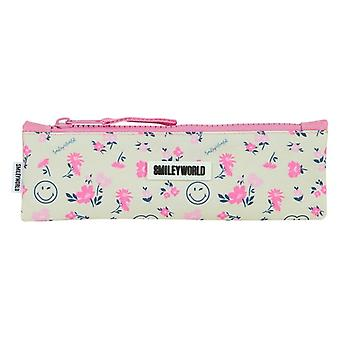 Holdall Smiley Pink White