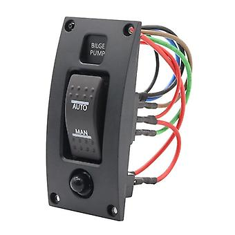 Bilge Pump Switch Panel With Backlight On-off-on For Boat Ship