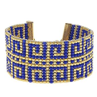 Græsk Hvirvler Væv armbånd - Eksklusiv Beadaholique smykker Kit