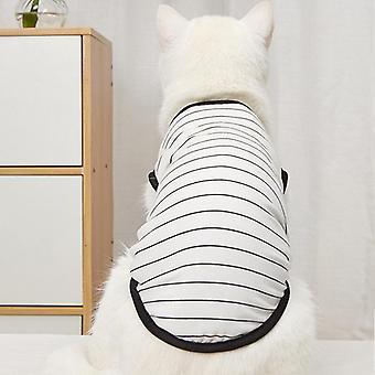 Summer pet clothing striped cat vest