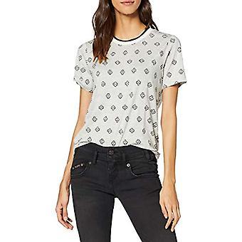 Scotch & Soda Maison Allover Printed S/s Tee T-Shirt, Multicolored (Combo E 0221), X-Small Woman