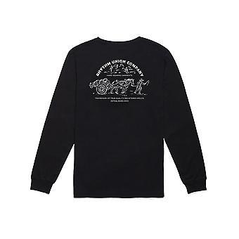 Rhythm Trader Long Sleeve T-Shirt in Black