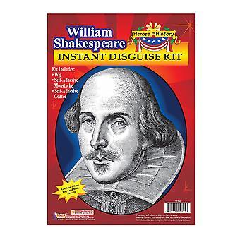William Shakespeare Hero History Mens Costume Instant Kit Wig Moustache Goatee