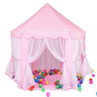 遊ぶ 家のゲームテントトイズボールピットプールポータブル折りたたみ式プリンセス折りたたみテント城ギフトテント子供の女の子のためのおもちゃ