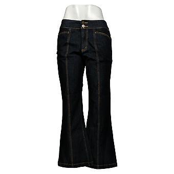 G.I.L.I. lo consiguió love it Women's Jeans 10 Petite Back Slit Flared Blue A351928