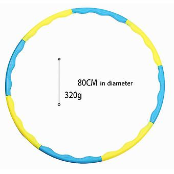 Blue yellow hula hoop adult plastic 8 detachable indoor outdoor sports equipment dt5110