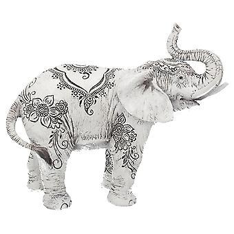 Estatua del elefante de la henna