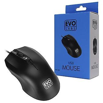 Evo Labs MO-128 USB Black Mouse