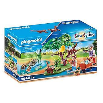Playset Family  Red Pandas Outdoor Enclosure Playmobil 70344 (55 pcs)