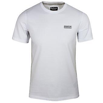 Barbour international men's white small logo t-shirt