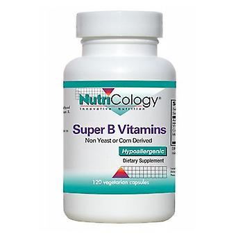 Nutricology/ Allergy Research Group Super B Vitamins, 120 Veg Caps
