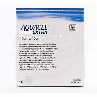 Convatec Hydrofiber Dressing Aquacel Extra Hydrofiber (Sodium Carboxymethylcellulose) 2 X 2 Inch, 1 Each
